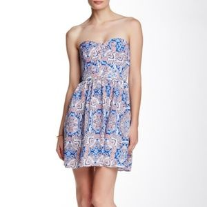 Parker Lily Strapless Dress Brocatto